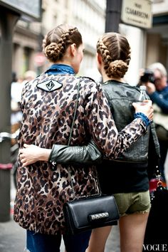 Caroline Brasch Nielsen wearing Julie Fagerholt / Heartmade Leo jacket, here you can se the beautiful back.