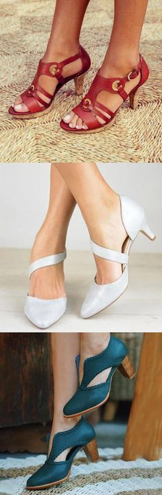 New Elegant Pumps Vintage Women Sandals Oxford Shoes Heels, Women Oxford Shoes, Up Shoes, Pumps Heels, Boho Sandals, Women Sandals, Women's Espadrilles, Chunky Heel Pumps, Hot Wheels