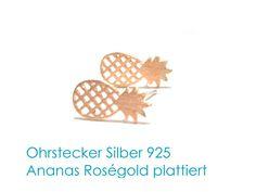 Ohrstecker+Ohrringe+Roségold+vergoldet+von+DeineSchmuckFreundin+-+Schmuck+und+Accessoires+auf+DaWanda.com