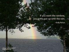 Pursue the rainbow.
