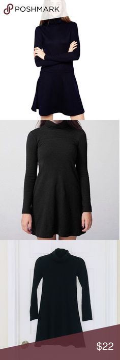 fdbc67e9d2b American Apparel dress American Apparel black long sleeved turtleneck tent  dress. Size xs. American