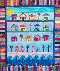 If you can't go to the beach, or if you just want to bring some stitching along with you to the seaside, here are some beach-themed quilt patterns for you!