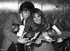 1968 - Lulu and Scott Walker holding their awards at the St Valentine's Day Presentation party.