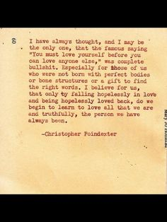 Christopher poindexter giving a new perspective.