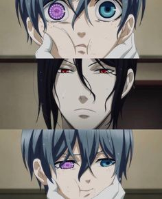 I find this really precious, like, the faces show the relationship that's happening between them, it's as if ciel is looking into the eyes of a disappointed father and cant hold the eye contact out of the shame. Black Butler Funny, Grell Black Butler, Black Butler Sebastian, Black Butler Kuroshitsuji, Otaku Anime, Anime Guys, Anime Art, Manga Anime, Manga Girl
