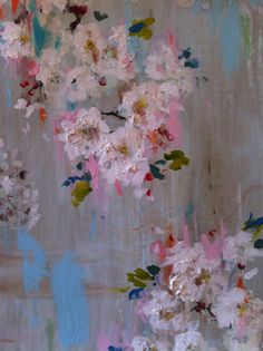 Kathe Fraga art-detail. Paintings inspired by vintage French Wallpaper. www.kathefraga.com