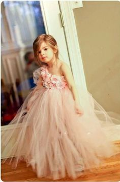 New fashion Cute Pink one shoulder ball gown flower girl dress puffy tulle tiered brithday party dresses for girls
