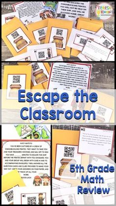 Breakout, escape the classroom! This is an end of the year math review game. It is perfect for test prep. Your fifth grade class will love reviewing math skills, while trying to escape the pirates!