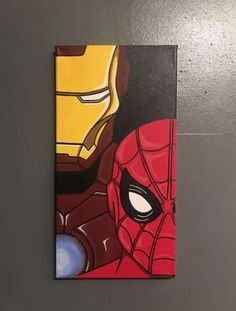 Spider-Man and Ironman Homecoming canvas Canvas Homecoming Ironman Spiderman DiyAbschnitt Diy Abschnitt # Canvas Drawings, Painting Canvases, Marvel Paintings, Spiderman Painting, Mini Canvas Art, Art, Disney Canvas Art, Painting Art Projects, Cute Canvas Paintings
