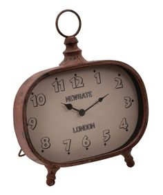 Take a look at this Brown Metal Clock by UMA Enterprises on #zulily today!