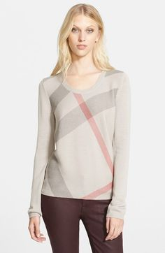 Burberry Brit Check Pattern Sweater