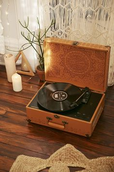 Birthday present????? Crosley X UO AV Room Embossed Portable USB Vinyl Record Player