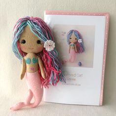 Lorelei - Mermaid Girl Pattern Kit by Gingermelon on Etsy