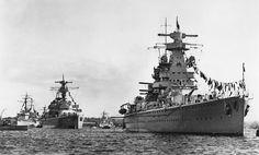 Battlecruiser Deutschland and Admiral Scheer 1939