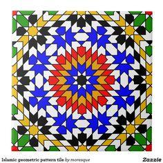 Islamitische geometrische patroontegel tegeltjes