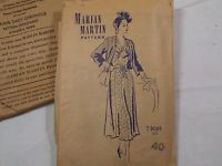Vintage 1940s Marian Martin Dress w/ Jacket Pattern sz 30 - 1949 - T9069
