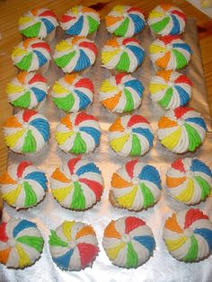 Beach Ball Cupcakes on Cake Central - Cupcake Baby Shower Ideen Beach Ball Birthday, Beach Ball Party, Ball Birthday Parties, Luau Party, Birthday Ideas, Water Birthday, 2nd Birthday, Beach Party Desserts, Aries Birthday