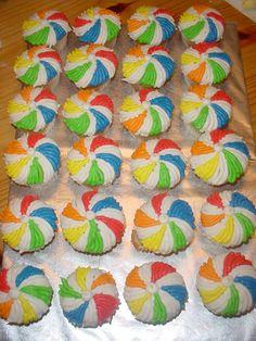 Beach Ball Cupcakes