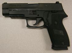 This Sig is in excellent condition. It is a with rail It features factory night sights (still bright), nitron finish, double action only trigger, and wears the factory black p Night Sights, Career Planning, Sig Sauer, Baby Boom, Hand Guns, Fingers, Sticks, Knives, Magazines