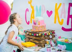 Girly Glamping Birthday Party | CatchMyParty.com