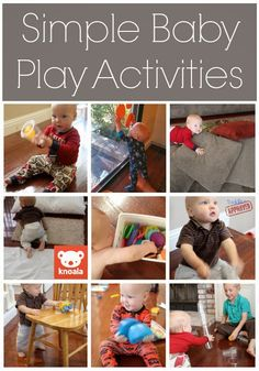 Simple Play Activities for Babies {Knoala App} Toddler Approved!: Simple Play Activities for Babies {Knoala App} Toddler Play, Baby Play, Baby Kids, Infant Activities, Preschool Activities, Steam Activities, Motor Activities, Baby Development, Baby Games