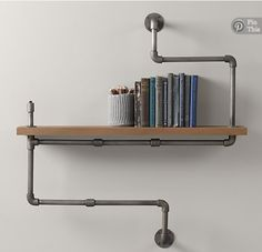 Love the industrial touch. Oh, and more room for books.