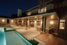 Like the support design.  Cortona Exterior - contemporary - pool - austin - by Cornerstone Architects