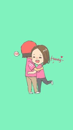 """""""It's good to be in your hug!"""" Cute & lovely couple sharing~ - iPhone wallpaper @mobile9 