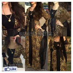 Pretty gold and black kurdish dress
