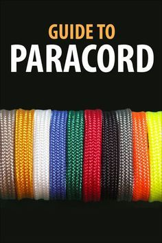 Easy Paracord Projects from paracord rings to bracelets.