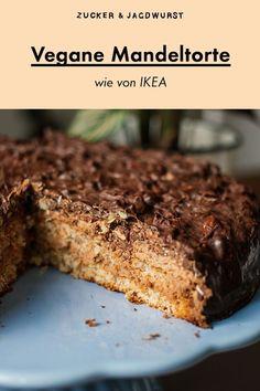 Vegane IKEA Mandeltorte - Rebel Without Applause Baking Recipes For Kids, Dessert Recipes For Kids, Dessert Cake Recipes, Healthy Dessert Recipes, Easy Desserts, Health Desserts, Dessert Simple, Desserts Sains, Vegan Sweets