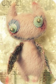 * Sleepless in NRW *: Treitag the free Tenth! Softies, Plushies, Monster Crafts, Cute Monsters, Hello Dolly, Crafty, Halloween, Handmade Dolls, Teddy Bears