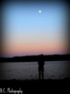 The moon and my shadow