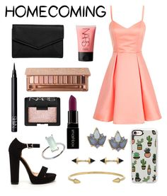 """Pretty in Pink"" by maggiethequeen on Polyvore featuring LULUS, NARS Cosmetics, Urban Decay, Smashbox, Casetify, Carolee, IaM by Ileana Makri and Katie Diamond"
