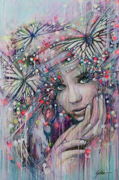 "Saatchi Art Artist Lykke Steenbach Josephsen; Painting, ""Butterfly Boheme"" #art"
