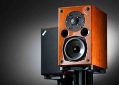 Acoustic Energy AE1 Classic Speakers Cherry with & without Grill
