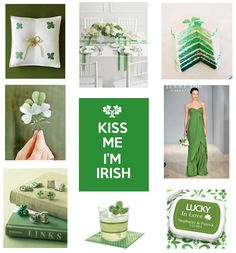 'Kiss Me I'm Irish' Wedding Inspiration Board created by Ebony Peoples Events & Design