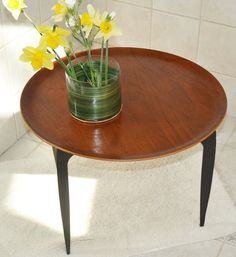 This is a CLASSIC, VINTAGE, MID-CENTURY MODERN, (50s), Original, Authentic, FRITZ HANSEN, Versatile, TEAK TRAY /SIDE TABLE with the original
