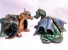 Clay scrap Dragons from Polymer Clay Express