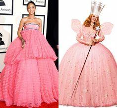 24ac12b049176 The 21 Best Memes of Rihanna's Grammys Dress -Cosmopolitan.com Balo Elbisesi,  ...