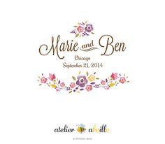 Premade Wedding Monogram  Wedding Logo  Wedding от atelierabeille