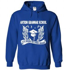 ANTRIM GRAMMAR - Its where my story begin! - #baseball tee #maroon sweater. GET => https://www.sunfrog.com/No-Category/ANTRIM-GRAMMAR--It-RoyalBlue-Hoodie.html?68278