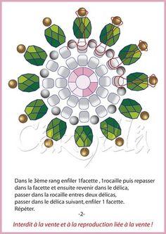 Pendentif Rosette - Bijoux de Carmilla - Another! Beaded Jewelry Designs, Bead Jewellery, Jewelry Patterns, Beading Patterns, Seed Bead Earrings, Beaded Earrings, Seed Beads, Free Beading Tutorials, Earring Tutorial