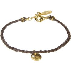 Ettika Bracelet ($25) ❤ liked on Polyvore featuring jewelry, bracelets, dark brown, ettika, leather bangle, ettika jewelry and leather jewelry