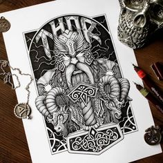 Sketches of tattoos for the body Tatto Viking, Viking Tattoo Sleeve, Norse Tattoo, Celtic Tattoos, Sleeve Tattoos, Dark Art Tattoo, Metal Tattoo, Future Tattoos, Tattoos For Guys