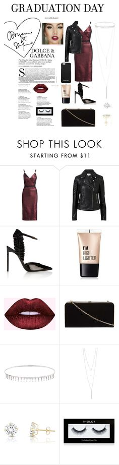 """graduation day"" by anabelisstyle ❤ liked on Polyvore featuring Cinq à Sept, Witchery, Yves Saint Laurent, Charlotte Russe, Dorothy Perkins, Suzanne Kalan, Gorjana, Inglot and MICHAEL Michael Kors"