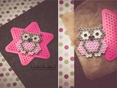 DIY/Eulenfieber und Bügelperlerei 😀 (Lililotta) Hey, today is not baked, cooked, dug or painted …. we can also very small Kinderbasteleien * laughing *! All around me the owl fever broke out, I fi Perler Bead Templates, Diy Perler Beads, Perler Bead Art, Pearler Beads, Fuse Beads, Melty Bead Patterns, Pearler Bead Patterns, Perler Patterns, Beading Patterns