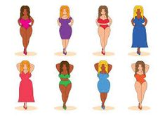 Free Girl Plus Size Vector