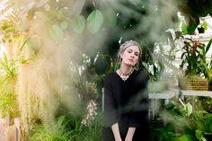 Beautiful model in greenhouse wearing Urban Outfitters | Duke Farms | NJ Wedding Photographer | Elyse Jankowski Photography