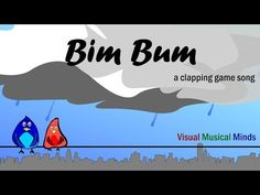 "Bim Bum is a fast and fun clapping game song that's sung on the words ""Bim Bum Biddy Biddy Bum"". Have fun! Silly Songs For Kids, Fun Songs, Songs To Sing, Kids Songs, Drum Lessons, Singing Lessons, Music Lessons, Physical Education Lessons, Music Education"
